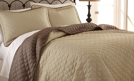 3-Piece Reversible Quilted Coverlet Set
