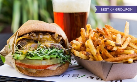 Grass-fed Beef Burgers or Cage-Free Jidori Chicken Sandwiches & Drinks at Pure Burger (Up to 33% Off). 3 Options.