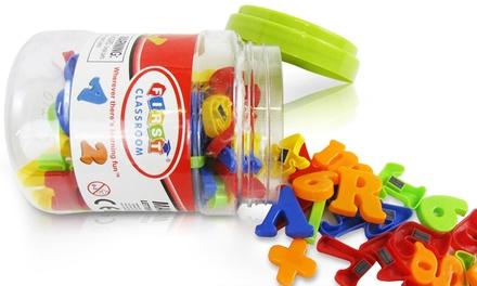 78-Piece Kids' Alphanumeric-Magnet Set