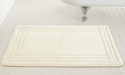 Geoplex Memory Foam Bath Mat. Multiple Sizes Available.