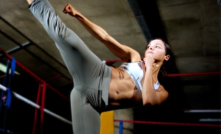 10 or 15 Cardio-Kickboxing Classes or One Month of Unlimited Classes at Dynamic Cardio-Kickboxing (Up to 71% Off)