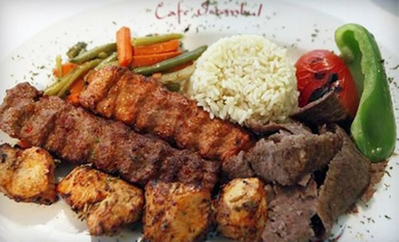 Mediterranean Food at Istanbul Cafe (Up to 56% Off). Two Options Available.