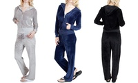 GROUPON: Agiato Women's Velour Jacket & Pants Agiato Women's Velour Jacket & Pants
