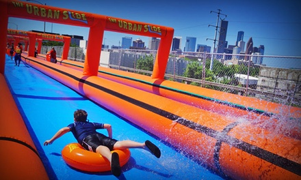 Single, Triple, or Unlimited All-Day Slider Admission to The Urban Slide on August 8 or 9 (Up to 60%Off)