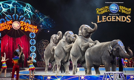 "Ringling Bros. and Barnum & Bailey Presents ""Legends"" (Up to 48% Off). Nine Showtimes Available, October 22-26"