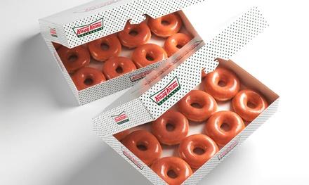 $10 for Two Dozen Original Glazed Doughnuts at Krispy Kreme $17.98 Value). Five Locations Available.