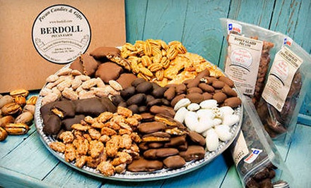 Pecan Candies, Baked Goods, and Gifts at Berdoll Pecan Candy & Gift Co. (Half Off). Two Options Available.