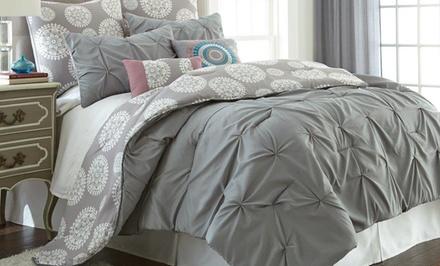 8-Piece Embroidered-Comforter Set