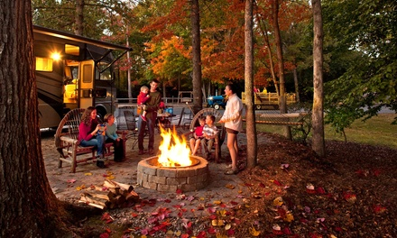 Three-Night Stay in Tent, RV Site, or a Classic Cabin at KOA Campground Williamsburg (Up to 46% Off)