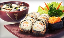 $12 for $24 Worth of Sushi and Japanese Food or Tea and Coffee at Shabu Sushi & Little Sweet Cafe