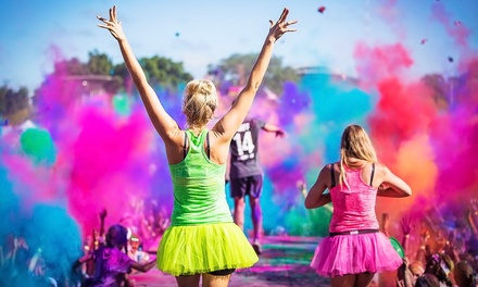 5K or 15K Holi Color Run Entry at Kimball Farm on Saturday, April 25 (Up to 50% Off)