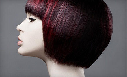 Haircut and Deep-Conditioning Treatment with Optional Partial or Full Highlights at Box Office Hair (Up to 57% Off)
