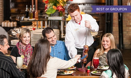 Full Rodizio Dinner for Two or Four with Rodizio Limeade and Dessert at Rodizio Grill  (42% Off)