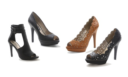 XOXO Open-Toe Pumps. Multiple Styles and Colors Available. Free Returns.