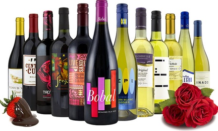 6 or 12 Bottles of Choose-Your-Own Premium Wine Plus $50 Gift Card from Heartwood & Oak (Up to 78% Off)