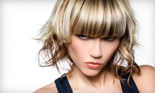 Haircut and Iron Curl with Optional Color or Partial Highlights at Bouvier International Salon (Up to 58% Off)