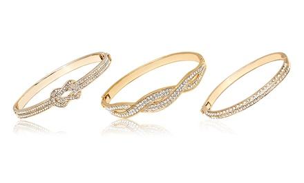 Bangle Bracelets with Swarovski Elements Crystals