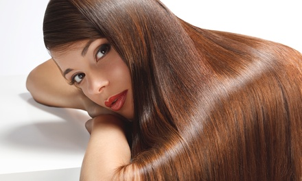[Haircuts, Highlights, and Gloss at id.Salon (Up to 57% Off). Three Options Available. Image]