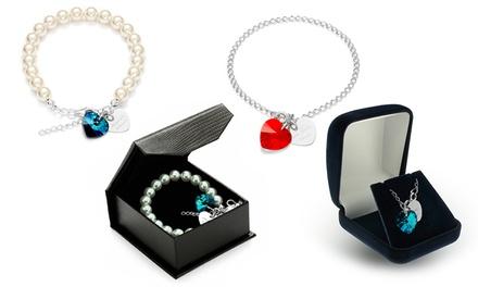 Pulseira com coração Swarovski Elements e coração gravado por 14,99€ ou duas por 24,99€