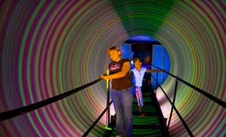 Mini Golf for One or Two or Birthday Party for 25 at The Haunted Mill and Purple Planet 3-D Mini Golf (Up to 75% Off)