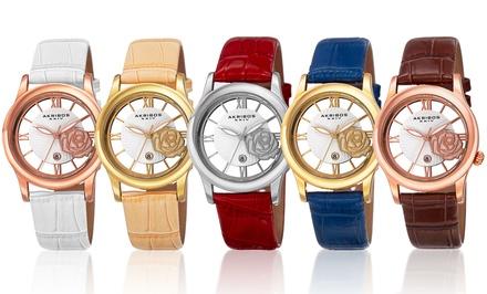 Akribos XXIV Women's Crystal Rose Watch