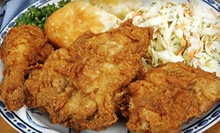 American Comfort Food at Meat and Three Cafeteria (Up to 52% Off). Two Options Available.