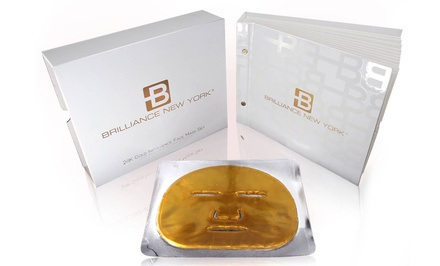 Brilliance New York 24-Karat Gold Indulgence Face Mask 12-Pack