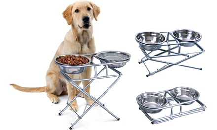 Three-Stage Adjustable Dog Feeder