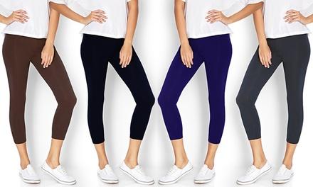 Women's Stretch Capri Leggings (6-Pack)