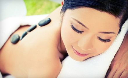 $80 for a Hot-Stone Massage and Choice of Facial at A Spa & Salon ($160 Value)