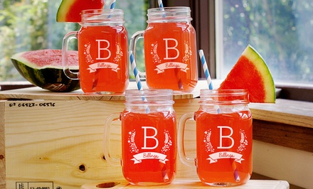 $24.99 for One Engraved Mason-Jar Set from GiftsForYouNow.com ($49.98)