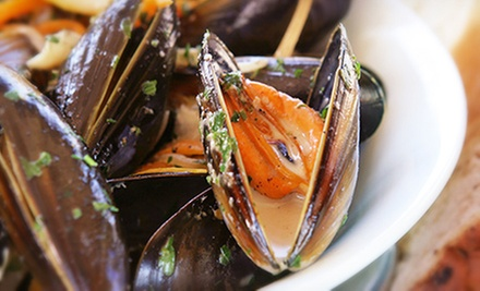 $20 for Mussel Dinner with Belgian Beers for Two at Cafe Biere ($40 Value)