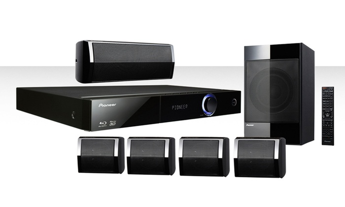pioneer blu ray 5 1 home theater system with ipod cradle. Black Bedroom Furniture Sets. Home Design Ideas