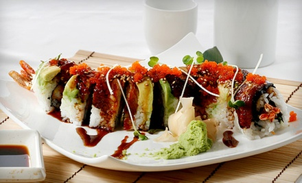 Sushi meal for two or four amcook fusion cuisine groupon for Amcook fusion cuisine new york