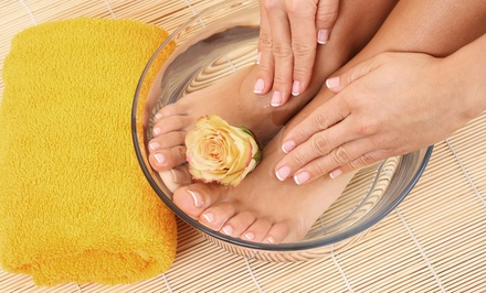 $39 for Shellac Manicure and Classic Pedicure at New Leaf Salon & Spa ($80 Value)