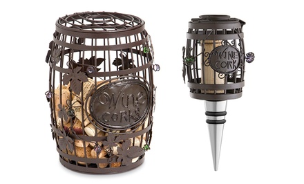 Barrel Cork Cage and Matching Bottle Stopper. Free Returns.