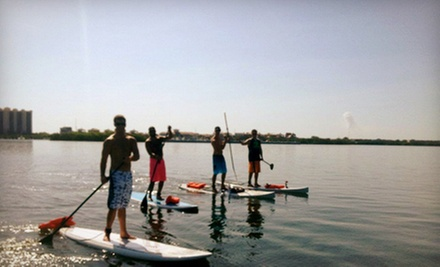 One, Two, or Four Standup-Paddleboard Lessons from Whats Up Stand Up Paddleboard Surf Company (Up to 58% Off)