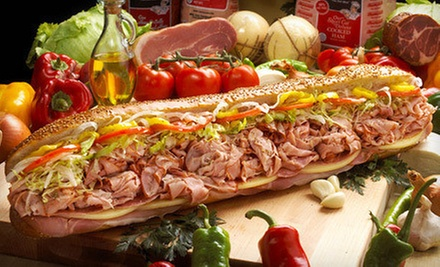 $10 for $20 Worth Sandwiches and Drinks for Two at Primo Hoagies  Marlboro. Choose from Two Locations.
