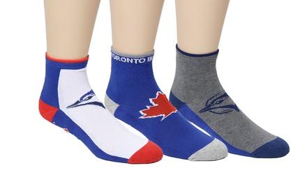 Blue Jays Youth Officially Licensed MLB Quarter Socks 6-Pack
