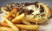 8-Inch Authentic Philly Cheesesteak with Fries or Salads, Desserts, and Beers for Two or Four at Monti's (Up to 54% Off)