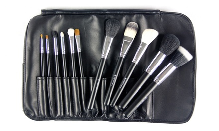 Beaute Basics 11-Piece Professional Makeup Brush Set with Carrying Case