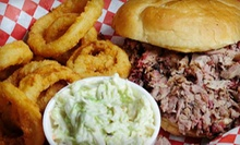 Barbecue at Sawmill BBQ (Half Off). Two Options Available.
