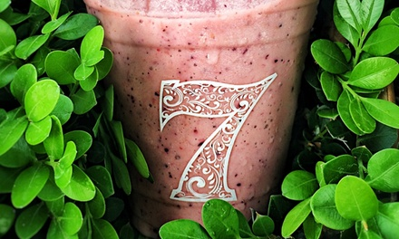 $14 for $24 Worth of Smoothies and Drinks at 7Fruity