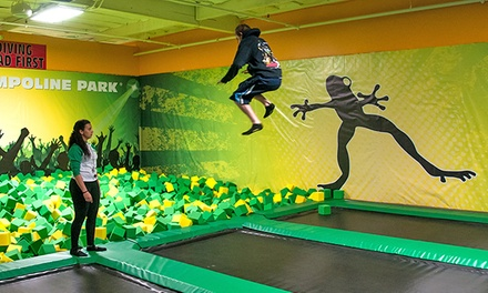 Trampoline Park Jump Sessions for Two or Four at Rockin' Jump (Up to 55%Off). Four Options Available.