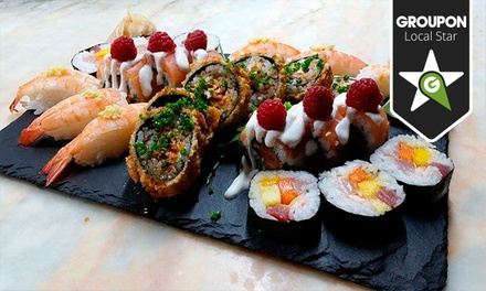 Baixa 22 — Aliados: menu de sushi de fusão com bebidas e cocktails para duas pessoas desde 29€