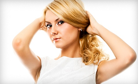 Haircut and Style with Optional Full Color or Partial Highlights at Hair Matters by Jaymee (Up to 53% Off)