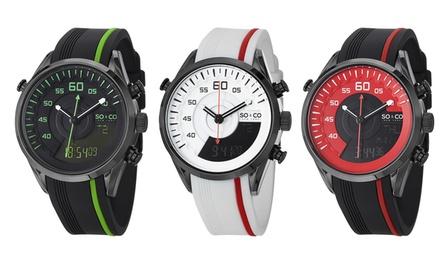 Relógio masculino SO&CO New York disponível em cinco modelos, agora por 44,99€ - Envio Gratuito