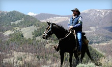 Two-Hour Trail Ride on Horseback for Two or Four from High Country-Trails (Half Off)