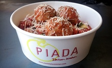 $15 for Three Groupons, Each Good for $10 Worth of Italian Food and Drinks at Piada Italian Kitchen ($30 Total Value)