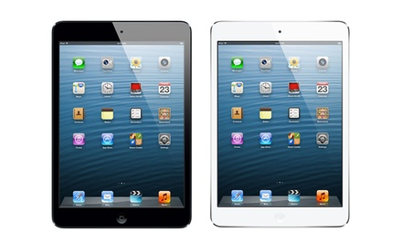 groupon daily deal - Apple 64GB iPad Mini Wifi and Cellular (Unlocked for All Networks) in Black or White. Free Returns.